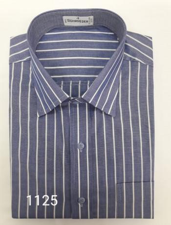 Camisa masculina manga curta com listras