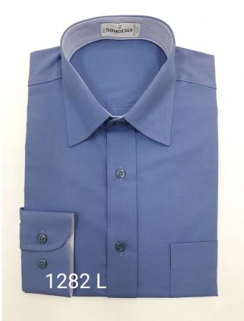 Camisa masculina manga curta, manga longa ou slim azul