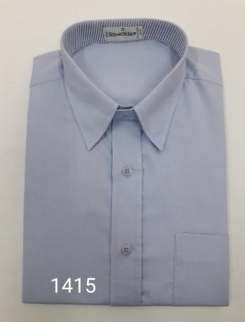 camisa masculina manga curta ou longa azul e branco