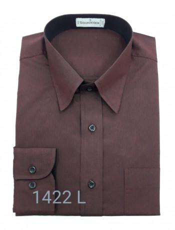 Camisa masculina manga longa bordô