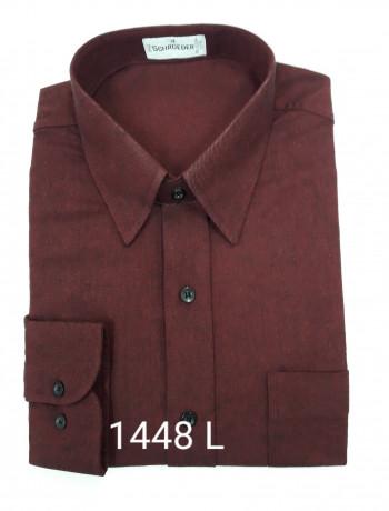 Camisa masculina manga longa bordô inverno