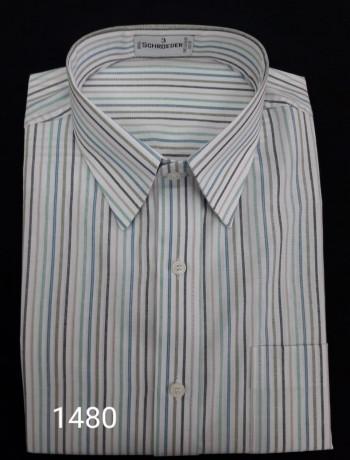 Camisa masculina manga curta listrada