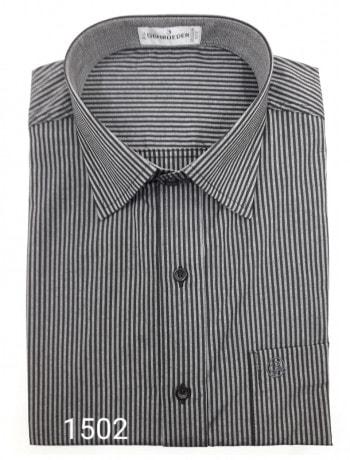 Camisa masculina manga curta ou longa risca de giz várias cores