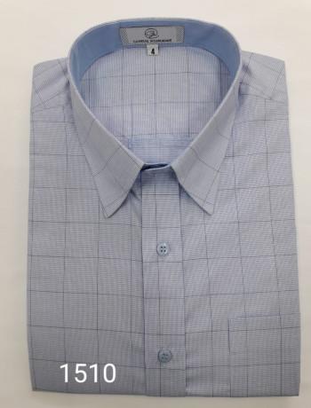 Camisa masculina manga curta ou longa quadriculada