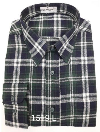 Camisa masculina manga longa xadrez inverno preto