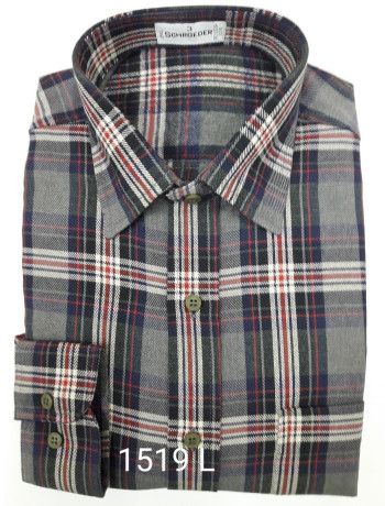Camisa masculina manga longa xadrez inverno várias cores