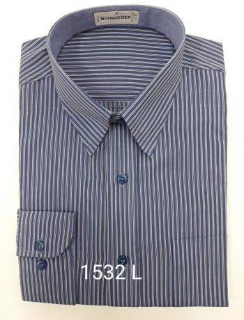 Camisa masculina manga curta, longa ou slim listrada viscose