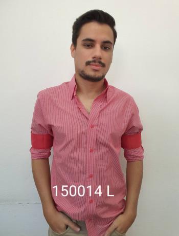 Camisa manga longa e slim listrada várias cores