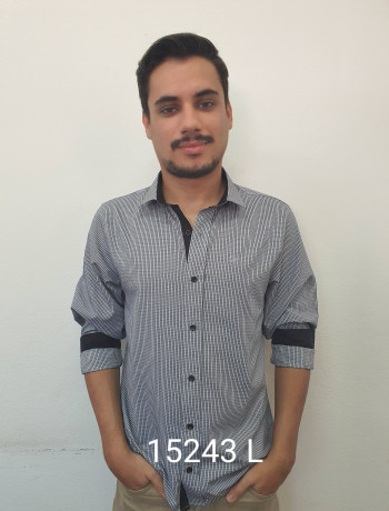 Camisa masculina manga curta, longa e slim xadrez várias cores